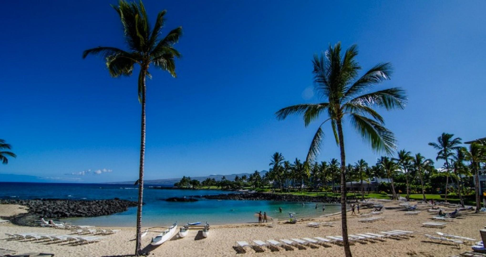 You have access to the private Mauna Lani Beach Club.