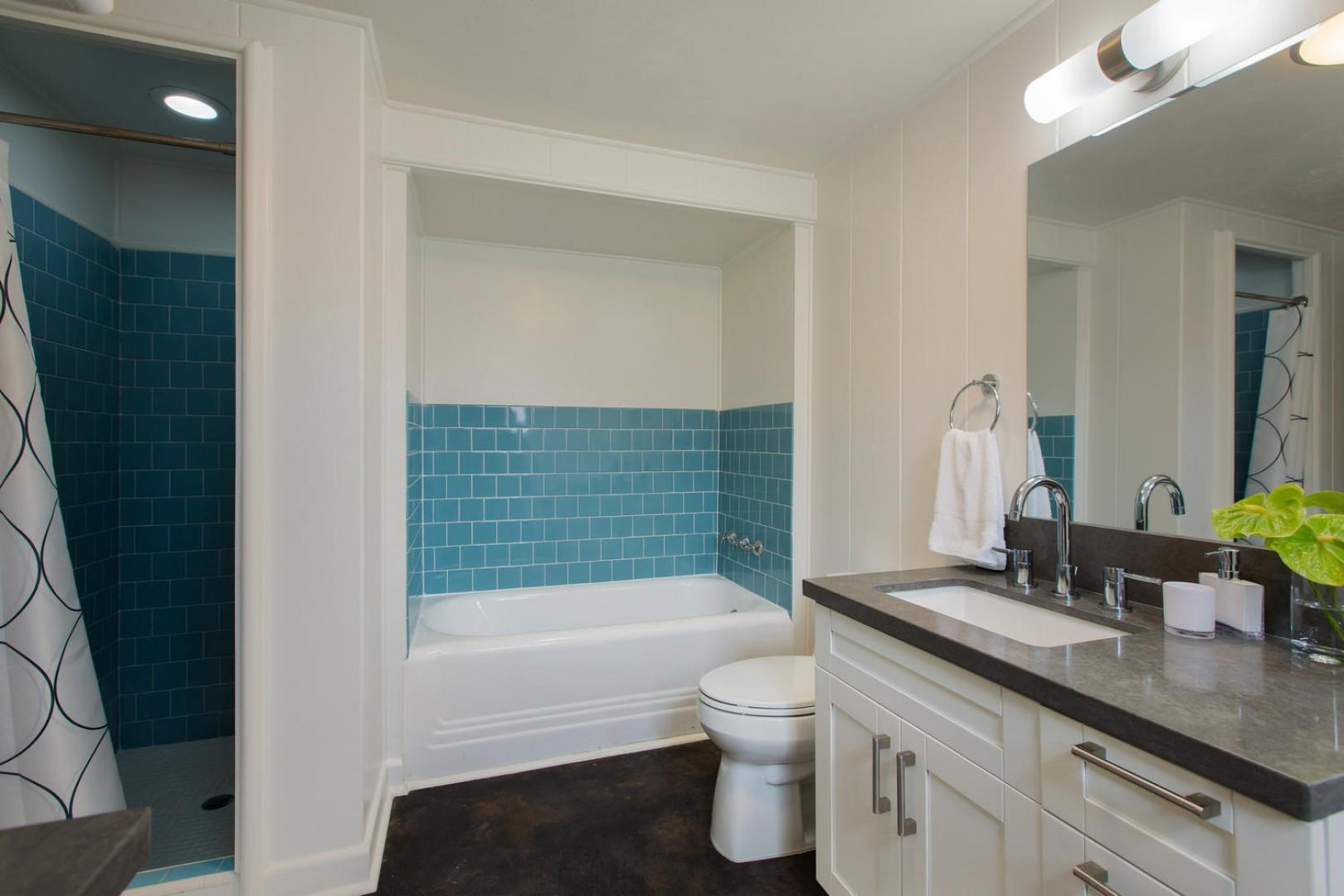 Master bathroom (shared with guest bedroom).