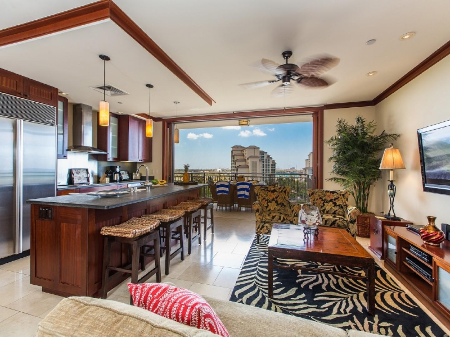 Living kitchen area view