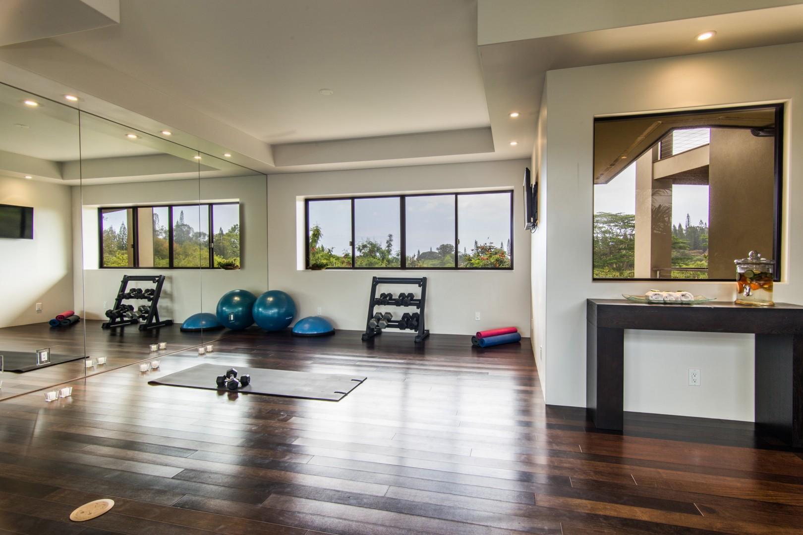 Yoga/exercise room.