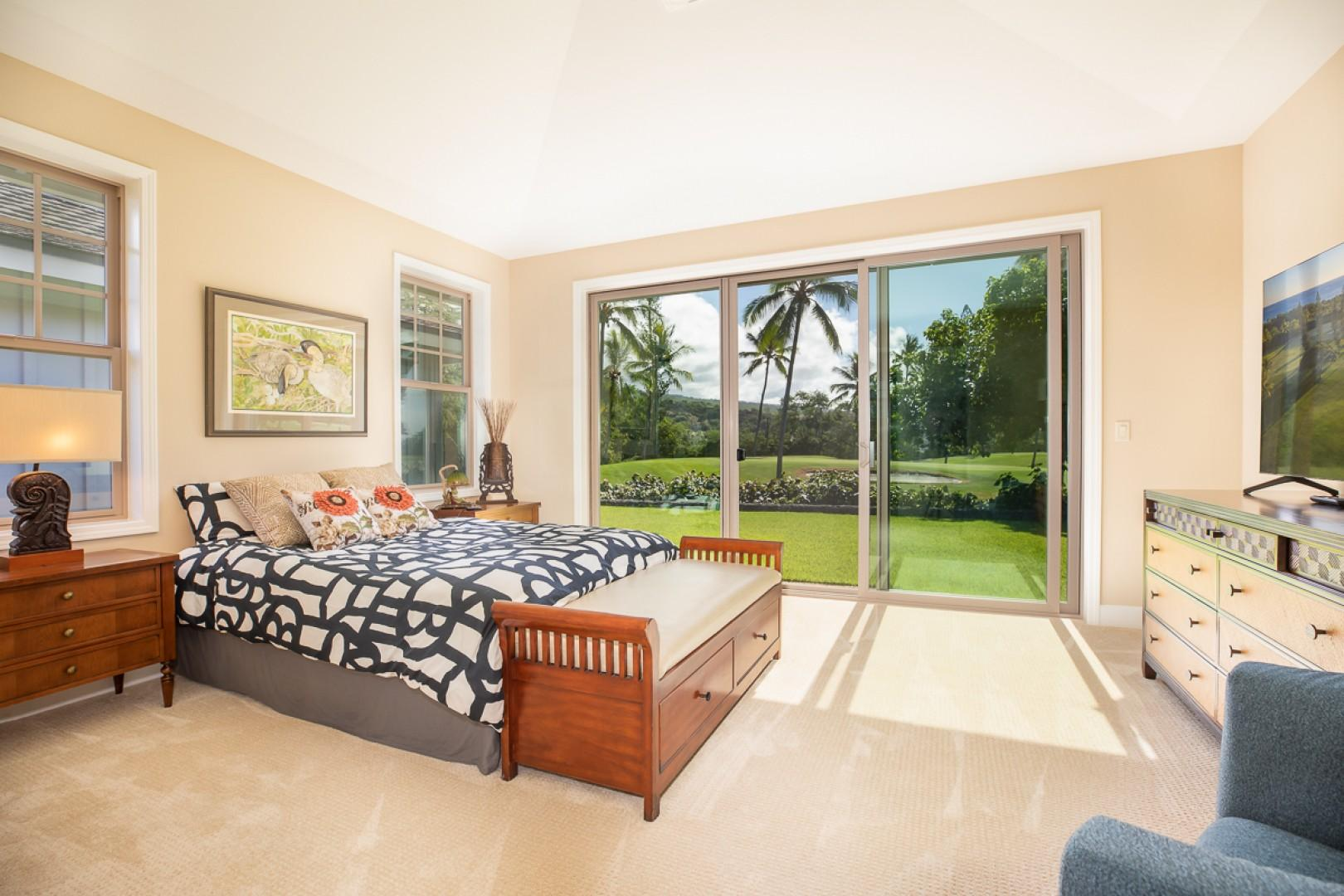 Spacious Master Bedroom with Golf course views and large ensuite