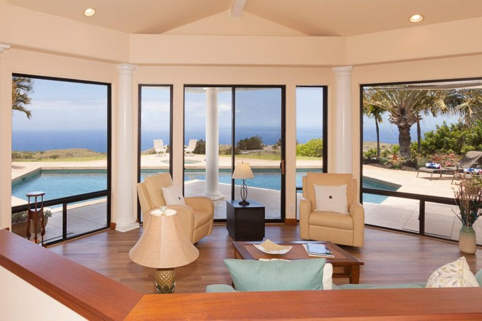 Views to the sea from the great room