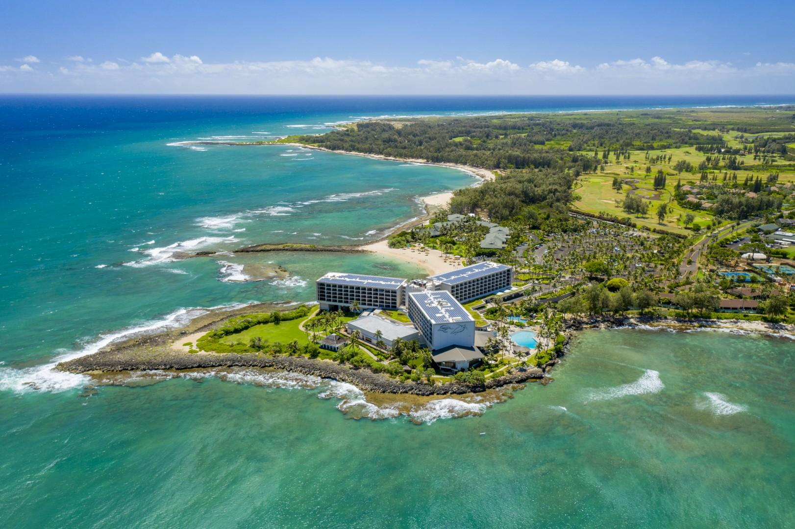View of the adjacent Turtle Bay Resort within walking distance of the Villas.  Turtle Bay Resort has great bars and restaurants that are open to the public.