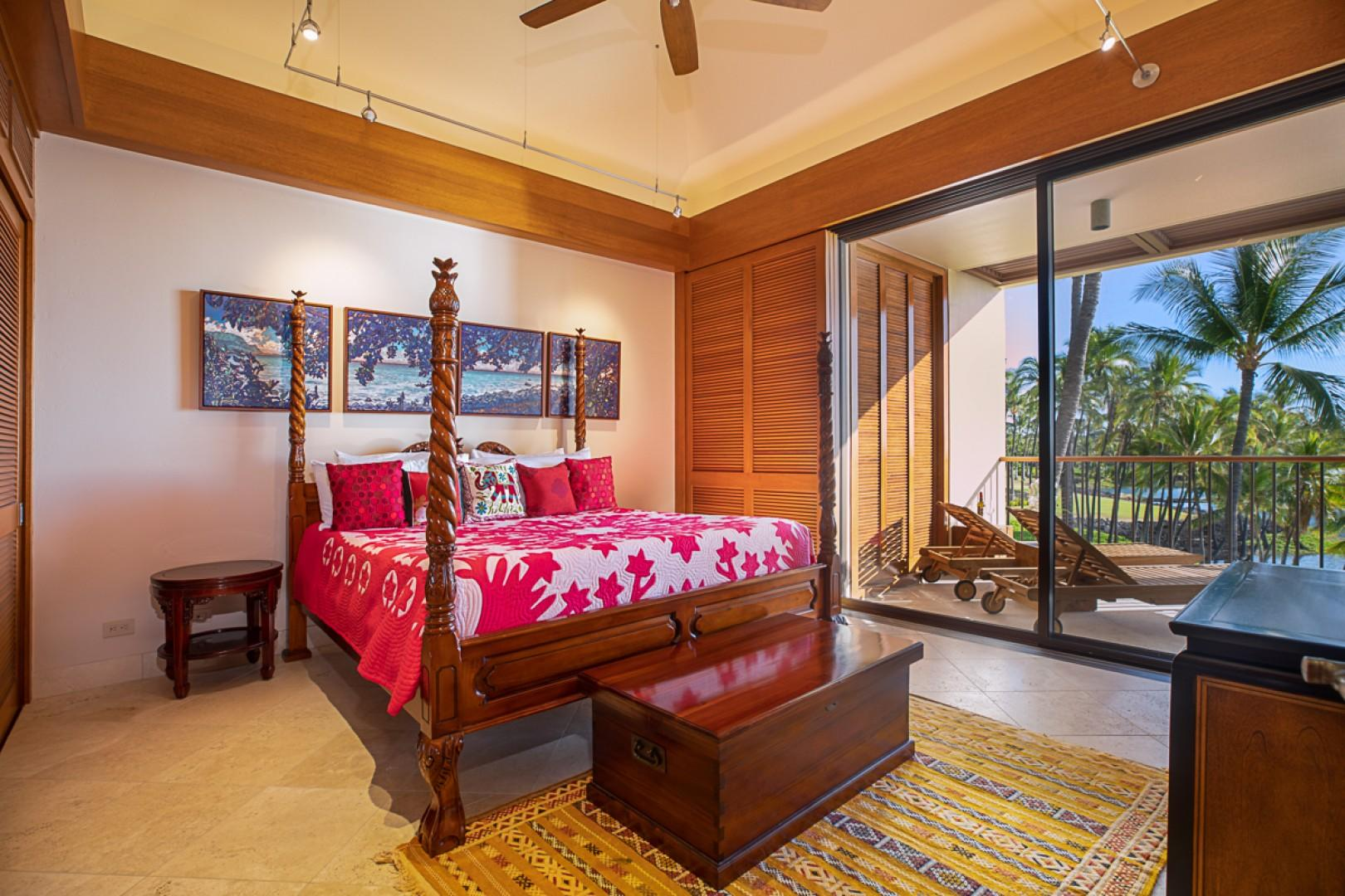 Spacious Master Bedroom with Lanai Access