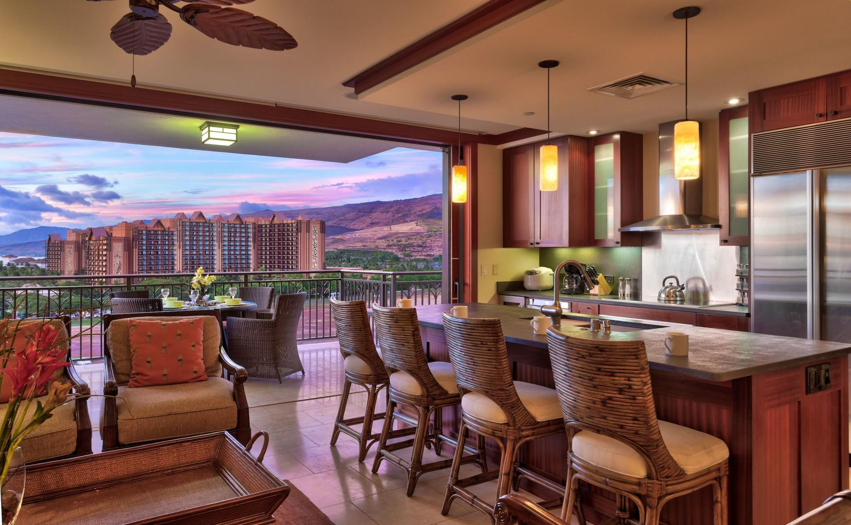 View of Disney Aulani from the living area