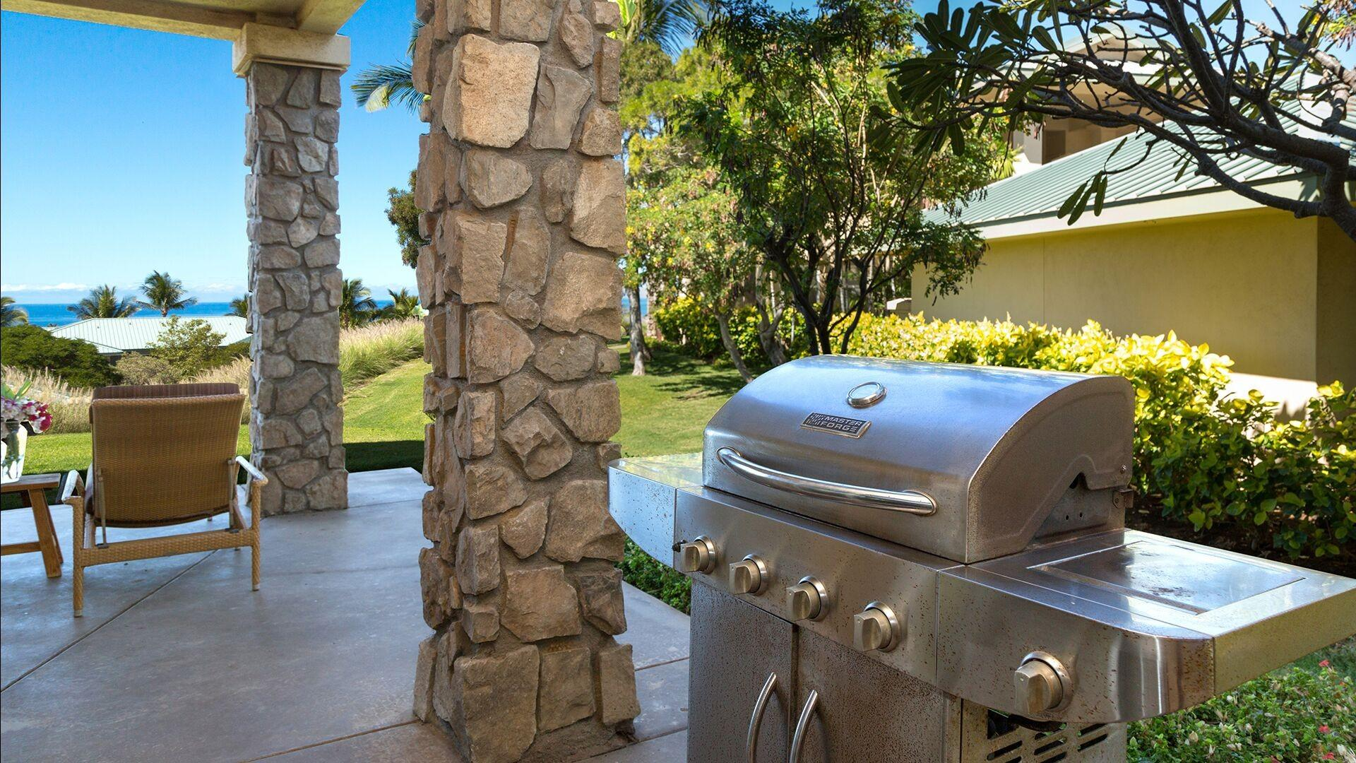 A private BBQ is provided for your use. Enjoy the ocean views while you prepare your favorite meal.