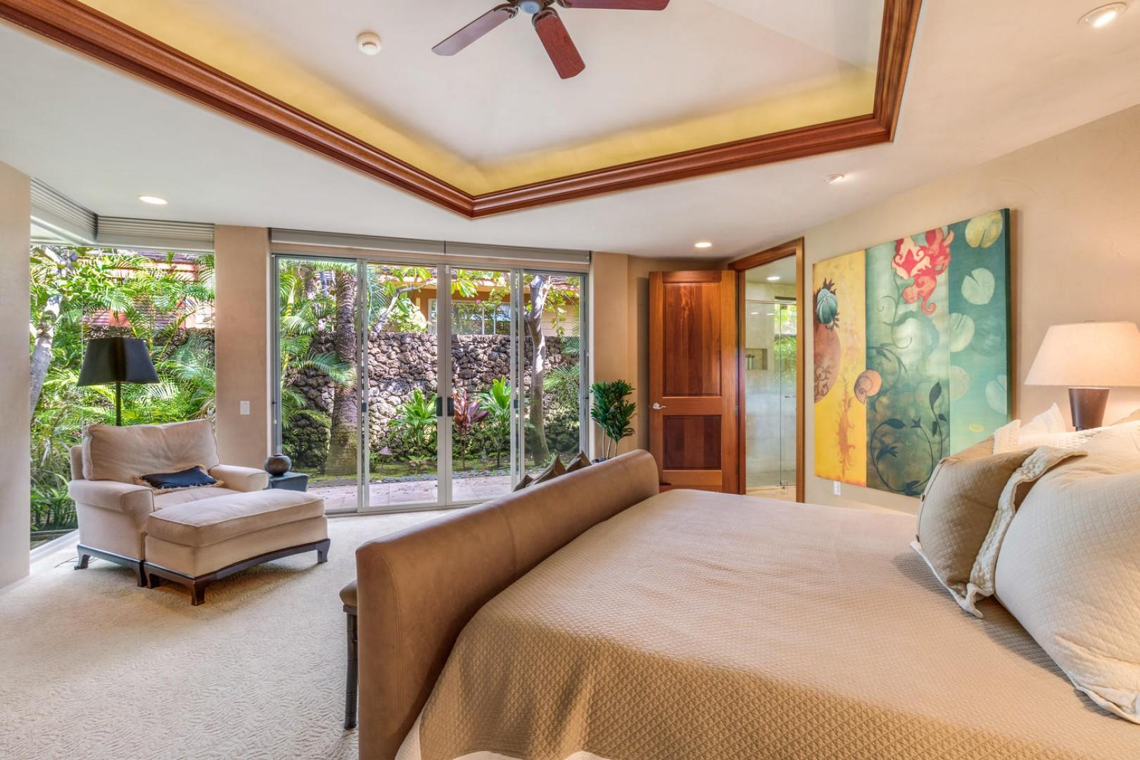 Alternate view of expansive master bedroom suite.