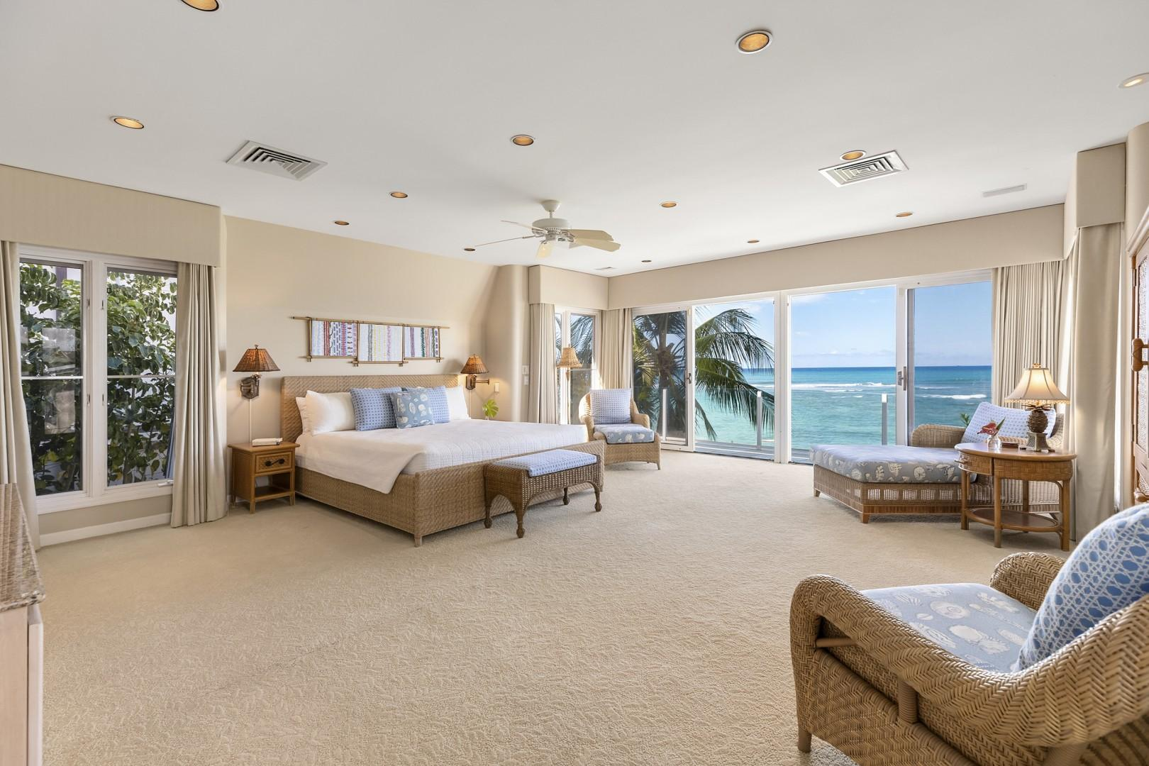 Master Suite with Ocean Views.