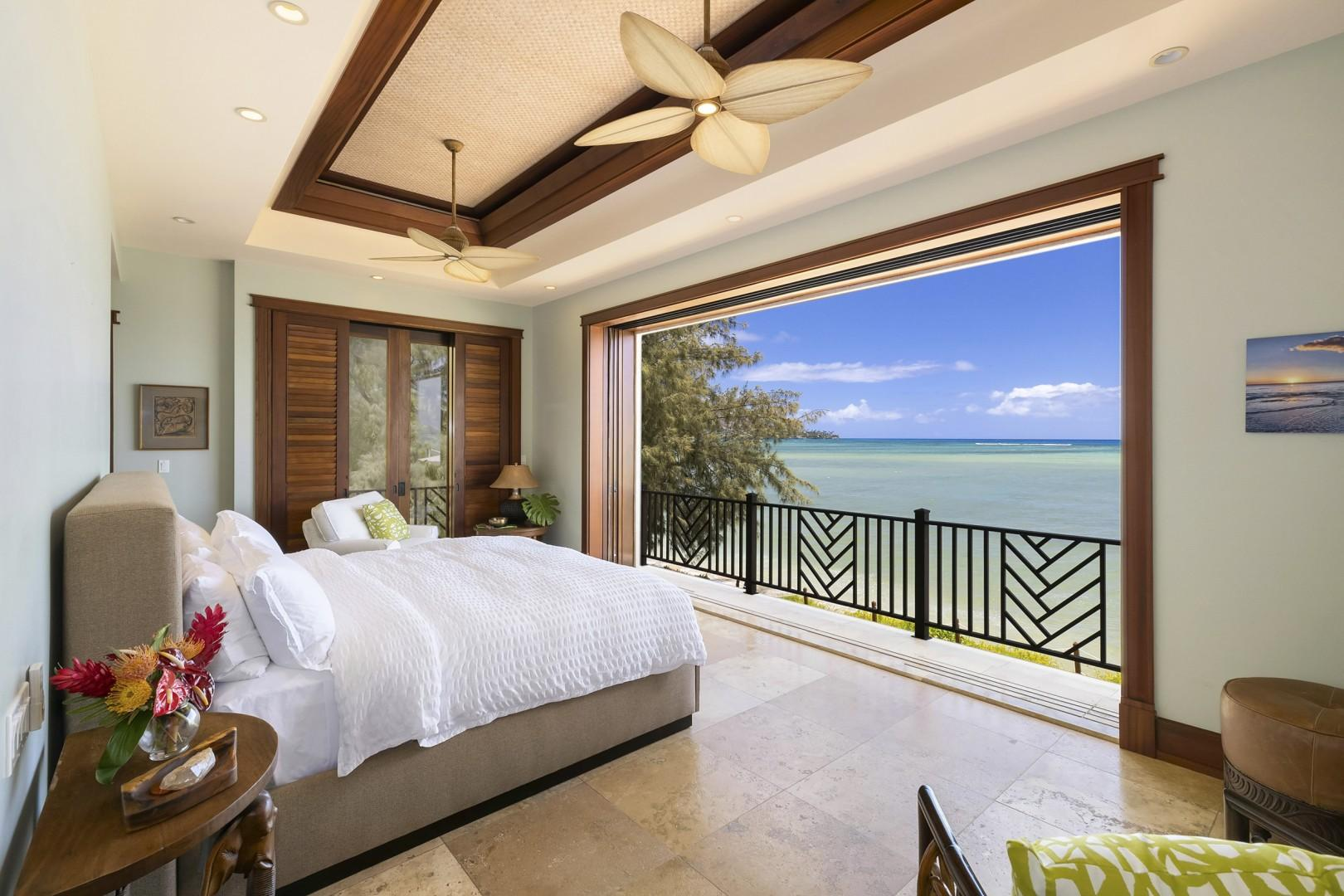 Master Suite with Juliette Balcony and Front Row Ocean Views
