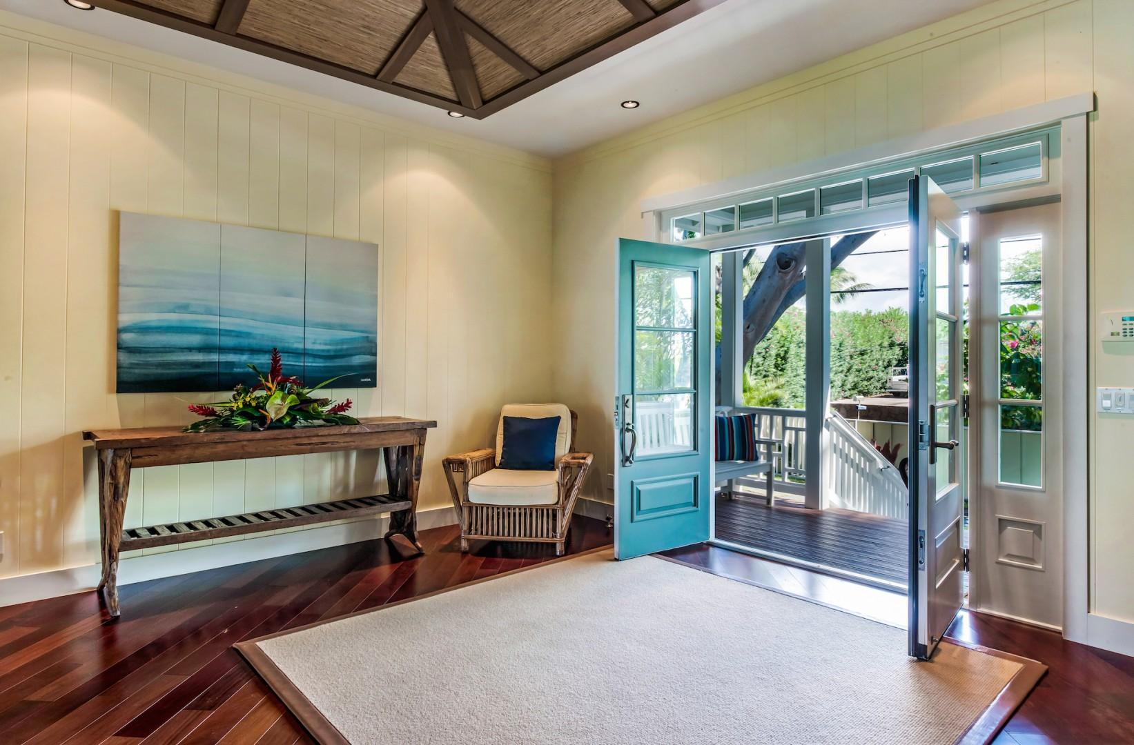 Front Entry Into Spacious Foyer
