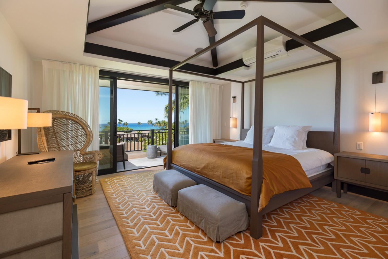 Guests will appreciate extras like four-poster beds and direct lanai access