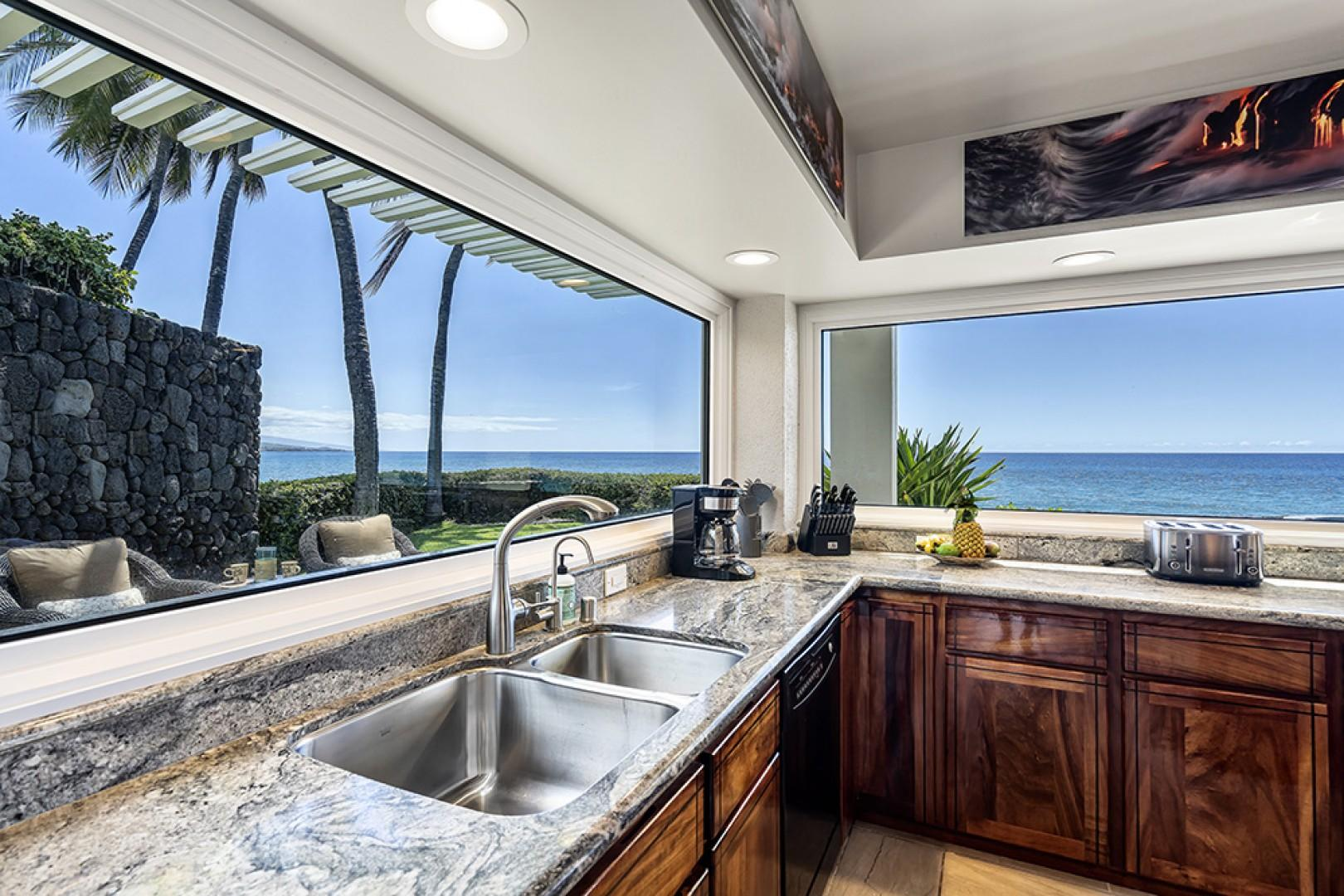 Even washing dishes can be enjoyable with a view like this!