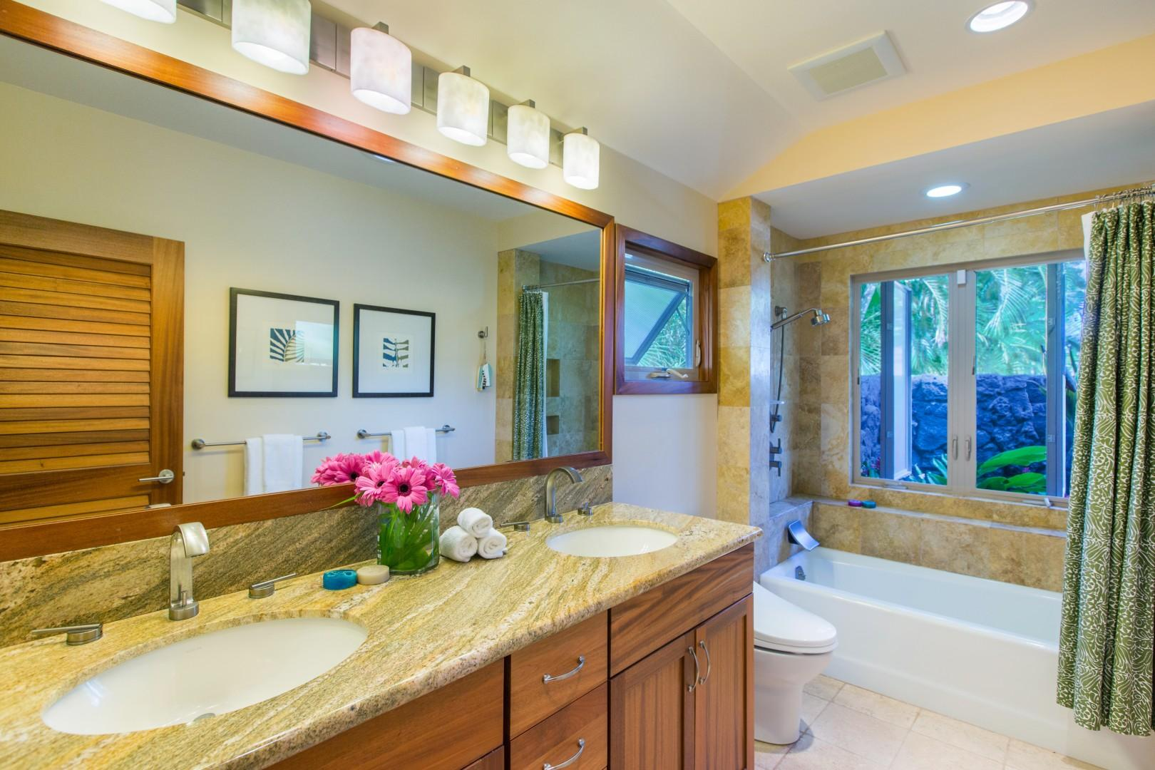 Guest house bathroom one