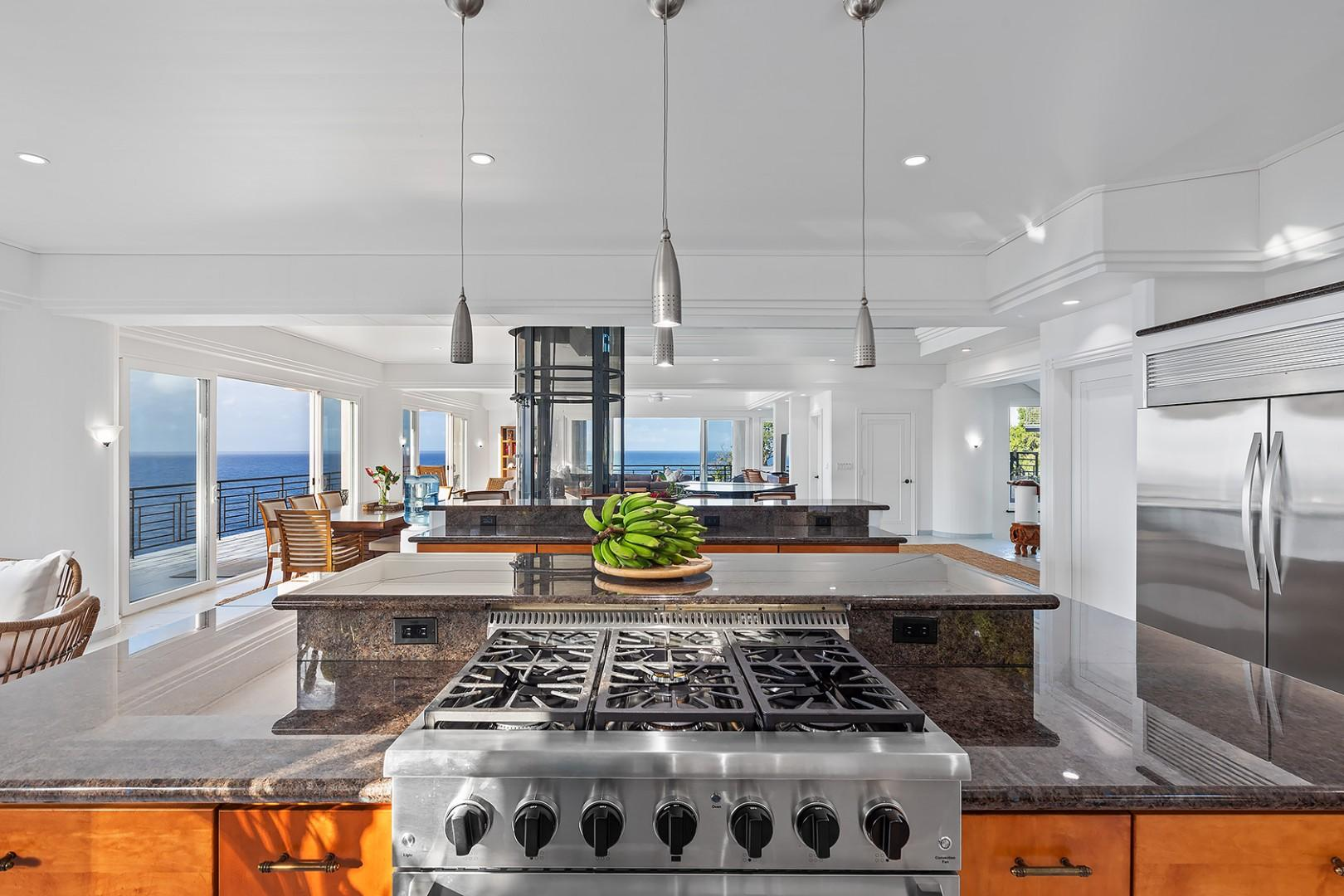 Cook with endless ocean views