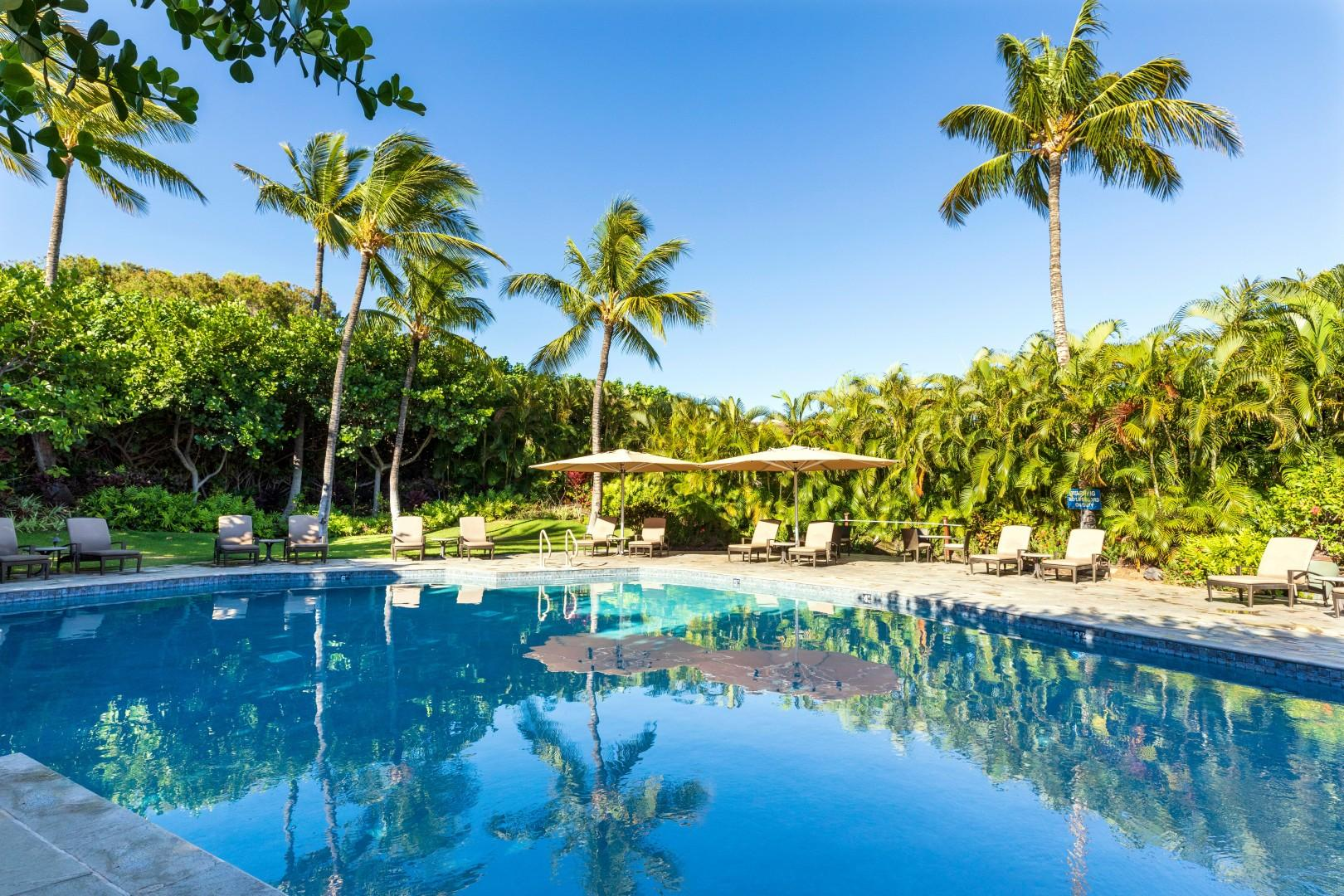 Enjoy the tropical pool just steps away from your unit.