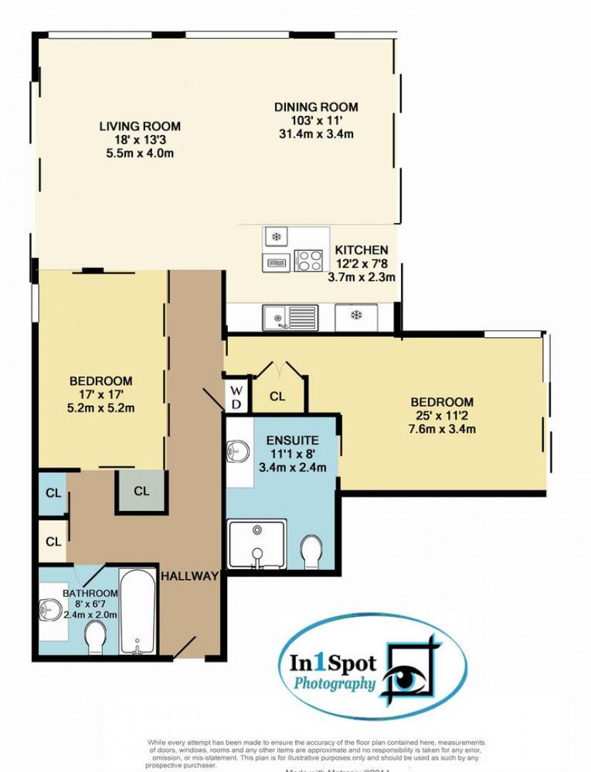 Floor plan of unit.