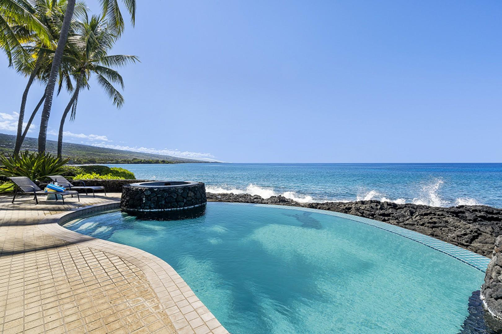Plenty of space along the Oceans edge on the spacious Lanai