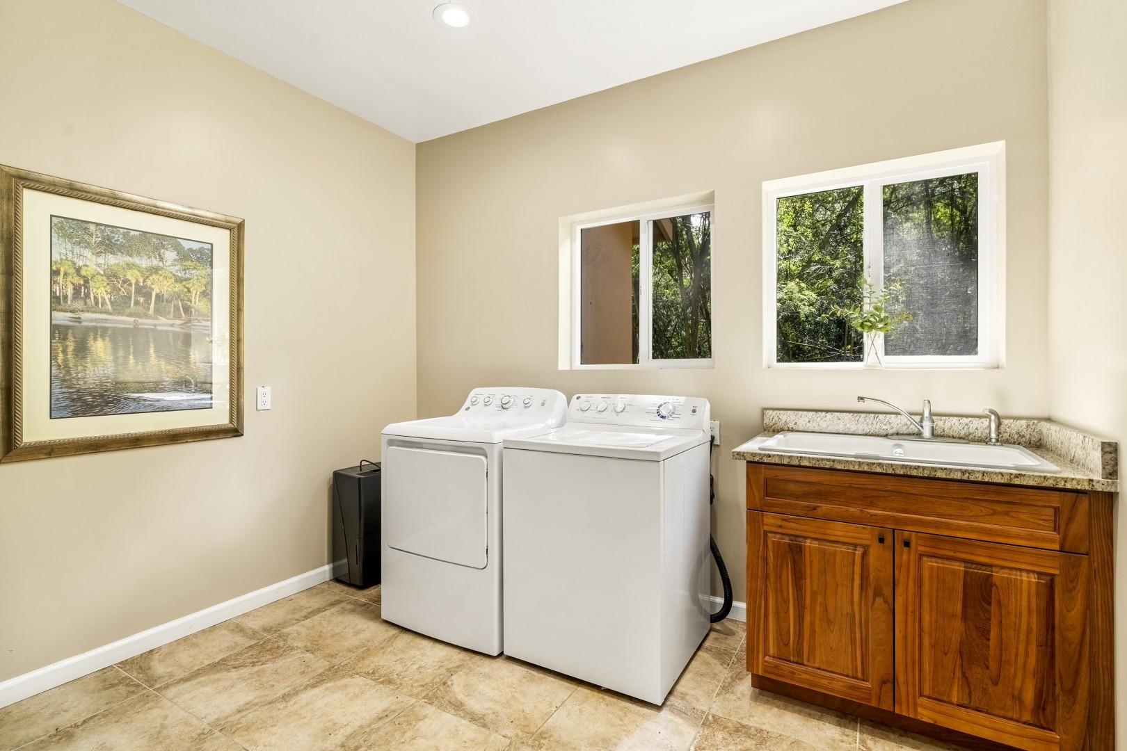 Full sized laundry room
