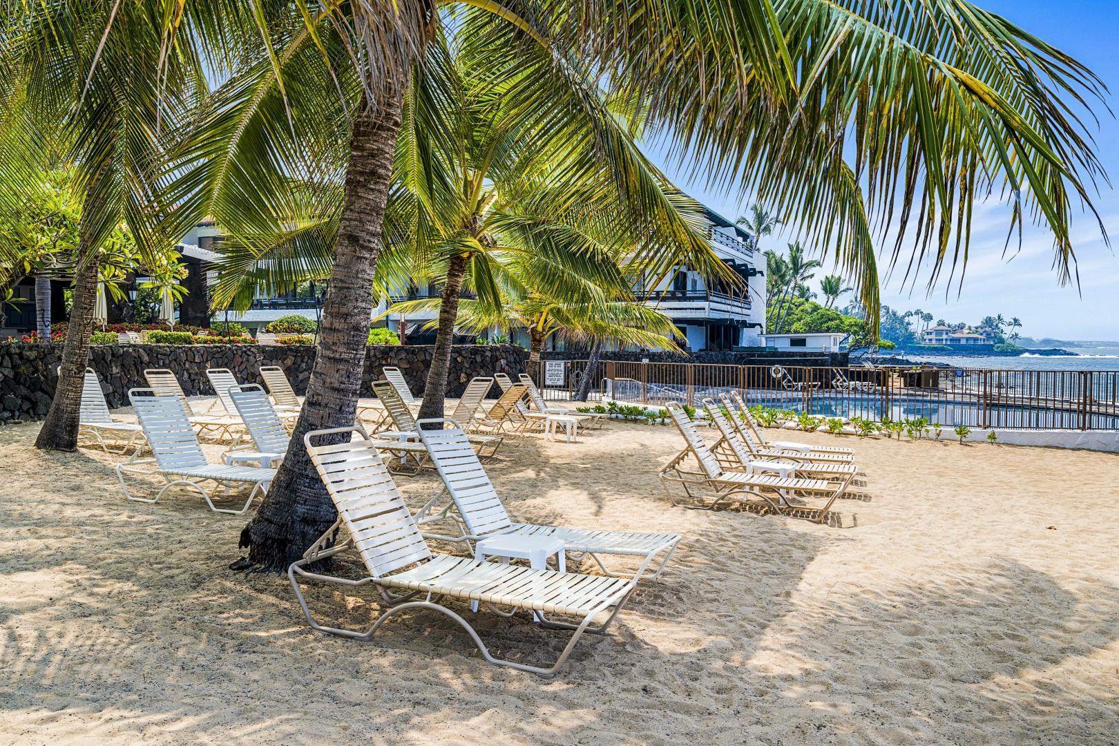 Sandy manmade Beach