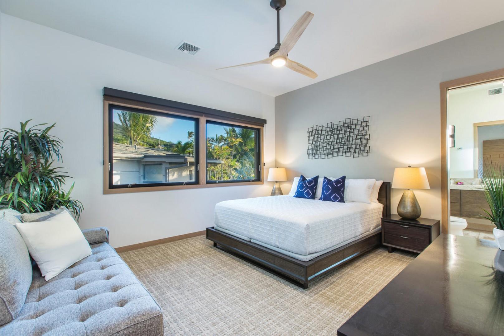 Upstairs bedroom suite.
