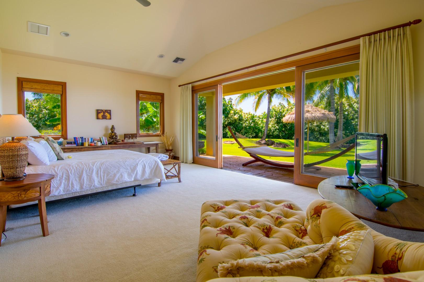 Master Bedroom with Lounge Chair and View