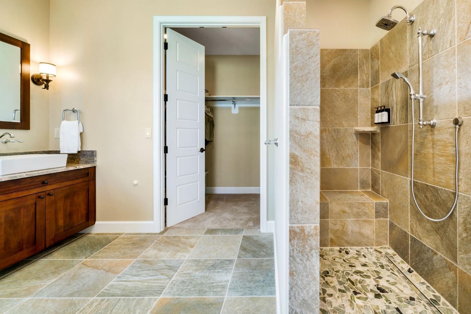 Tiled walk in shower