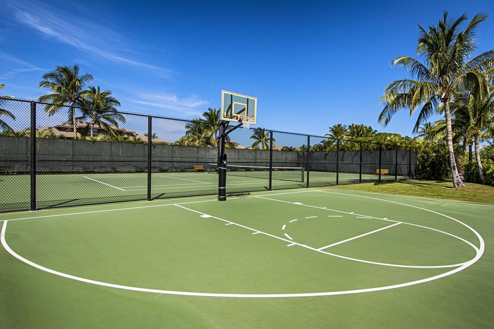 Hali'i Kai basketball courts.