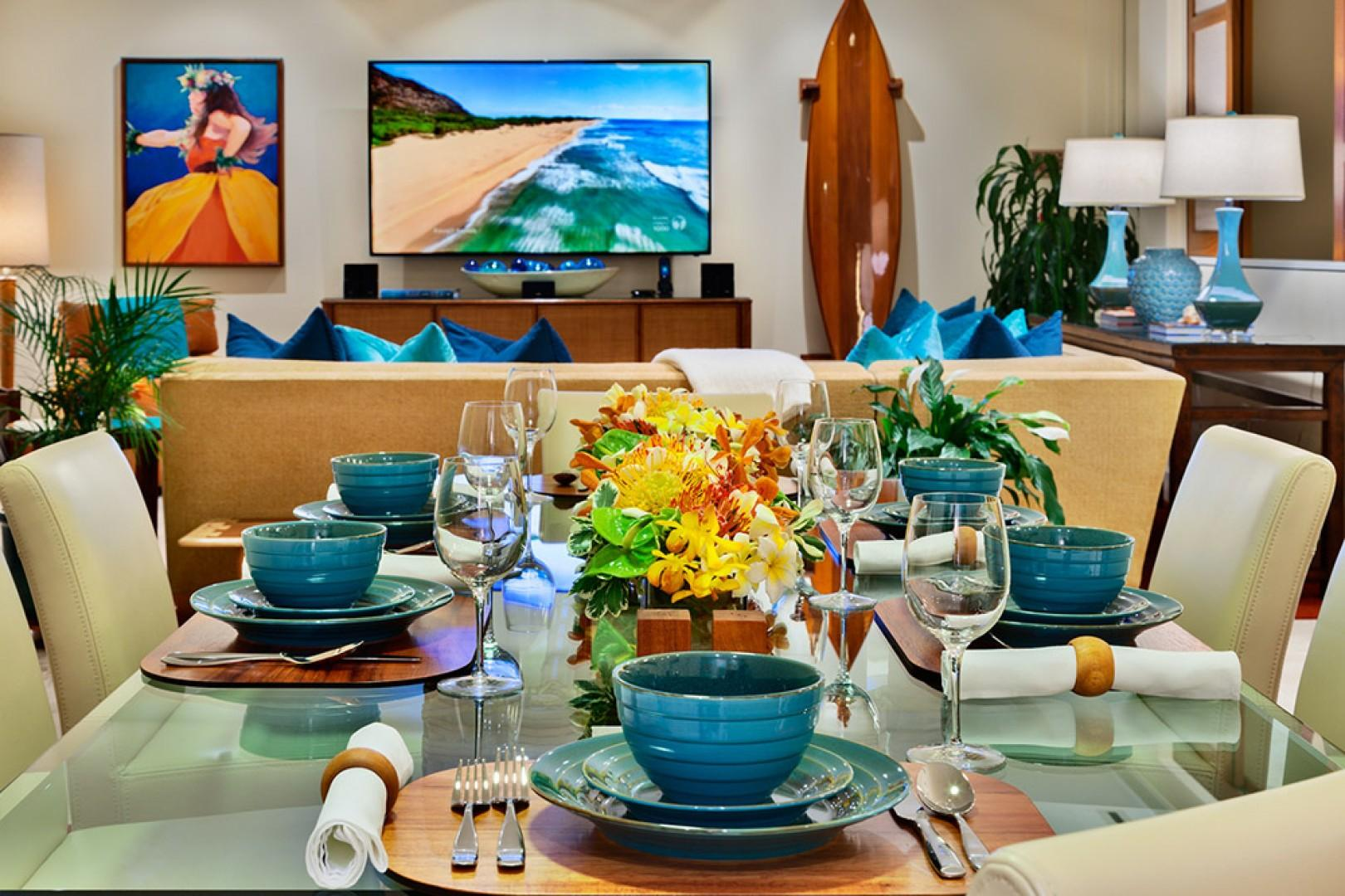 K507 Wailea Seashore Suite - Indoor Dining and Kitchen with Everything You May Need to Entertain and Dine