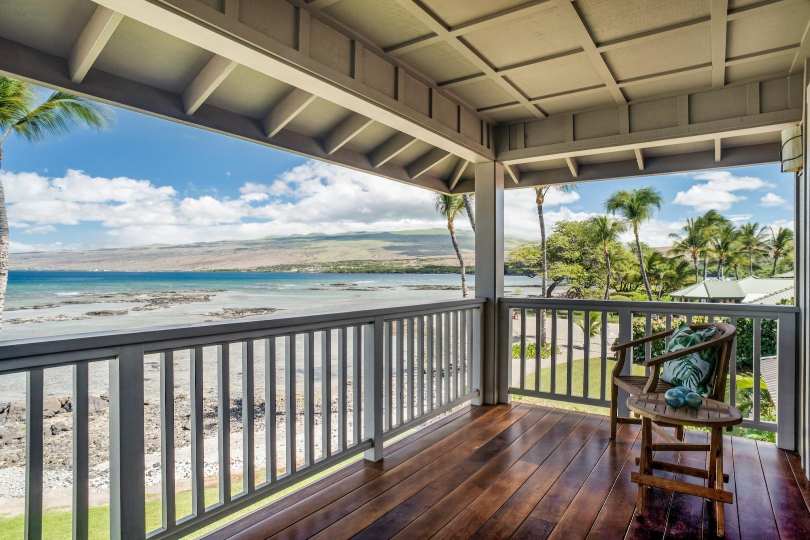 Upstairs Master Bedroom Lanai w/ Bistro Set and Comfy Love Seat to Enjoy the Magnificent Views