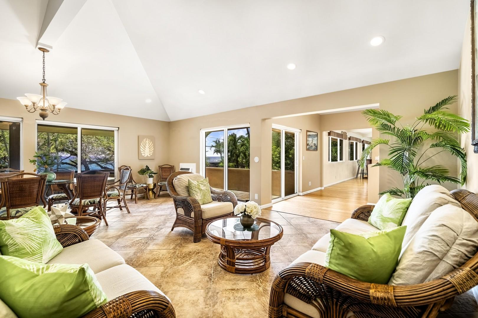 Open sightlines and vaulted ceilings!