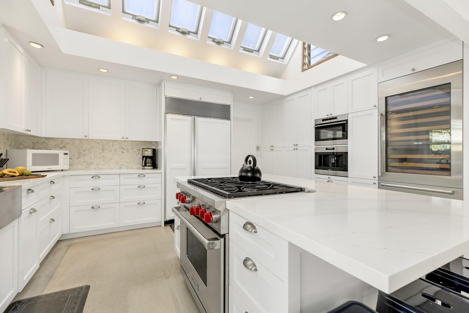 Newly remodeled kitchen with top of the line appliances.