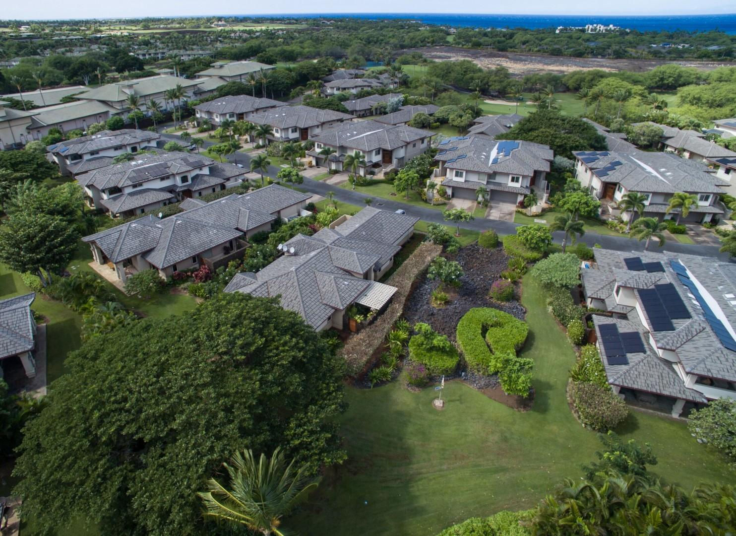 Aerial view of Hale Kanani and The Villages at Mauna Lani