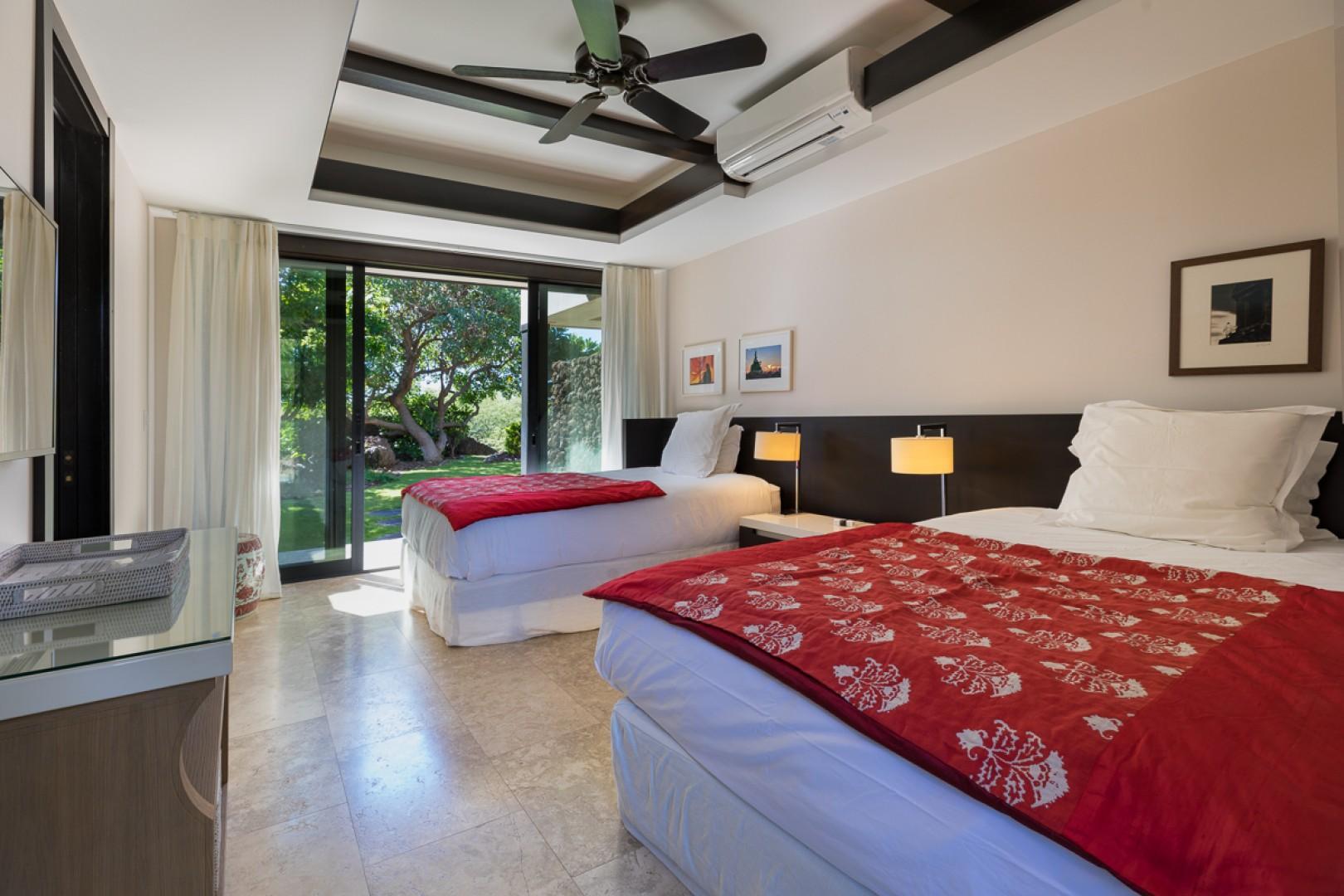 One of the five bedroom suites