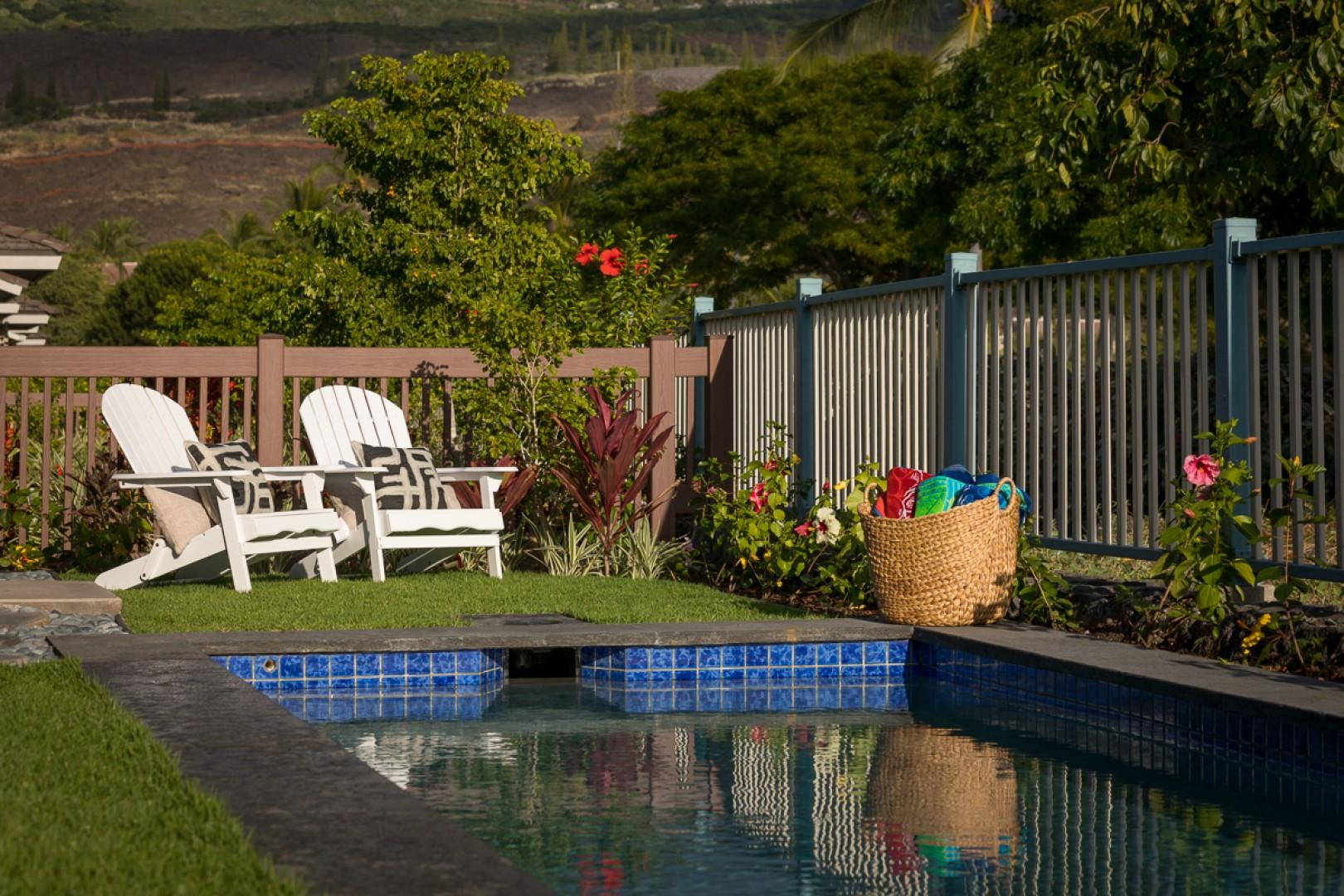 Soak up the sunshine by your sparkling pool