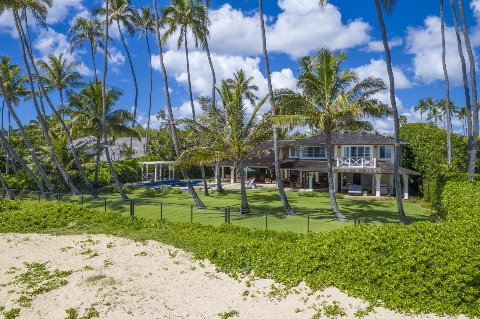 Kahala Beach is just steps beyond your back yard