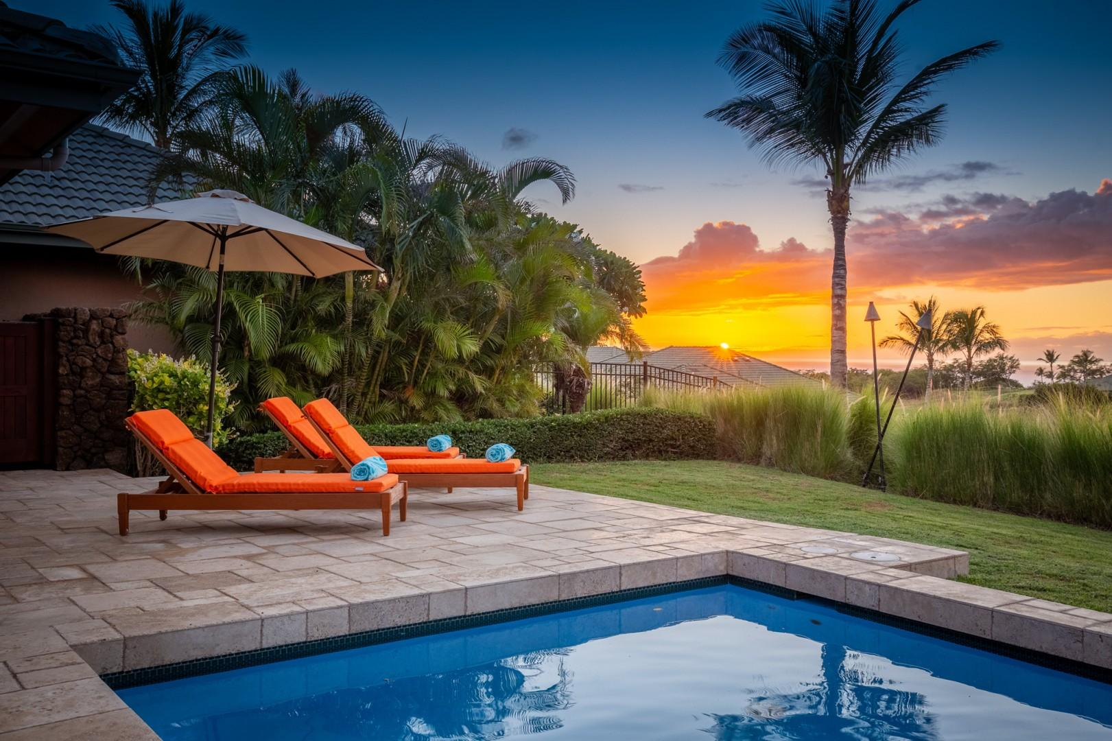 Sunsets, palm trees, and your own private tiki torches for after the sun goes down are all on offer.
