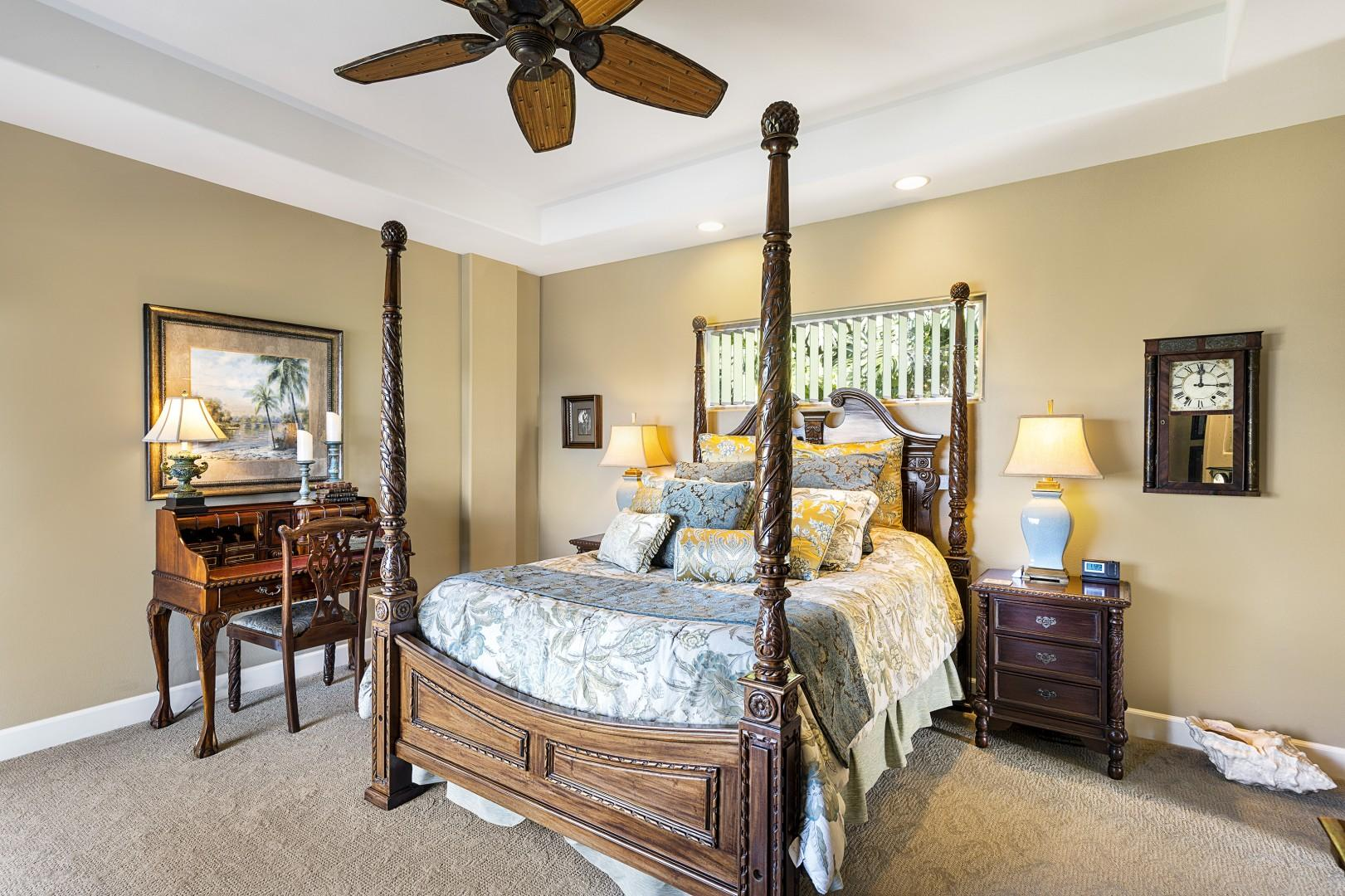 Queen sized bed with Lanai access and Ocean views!