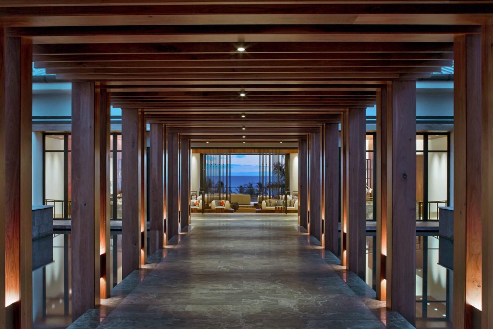 Andaz Maui Elegant and Modern Entranceway Leading to Main Lobby