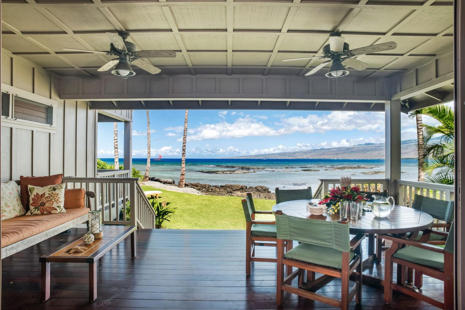 Main Lanai Off Living Room w/ Dining and Lounging Options, Just a Few Steps to the Shore!