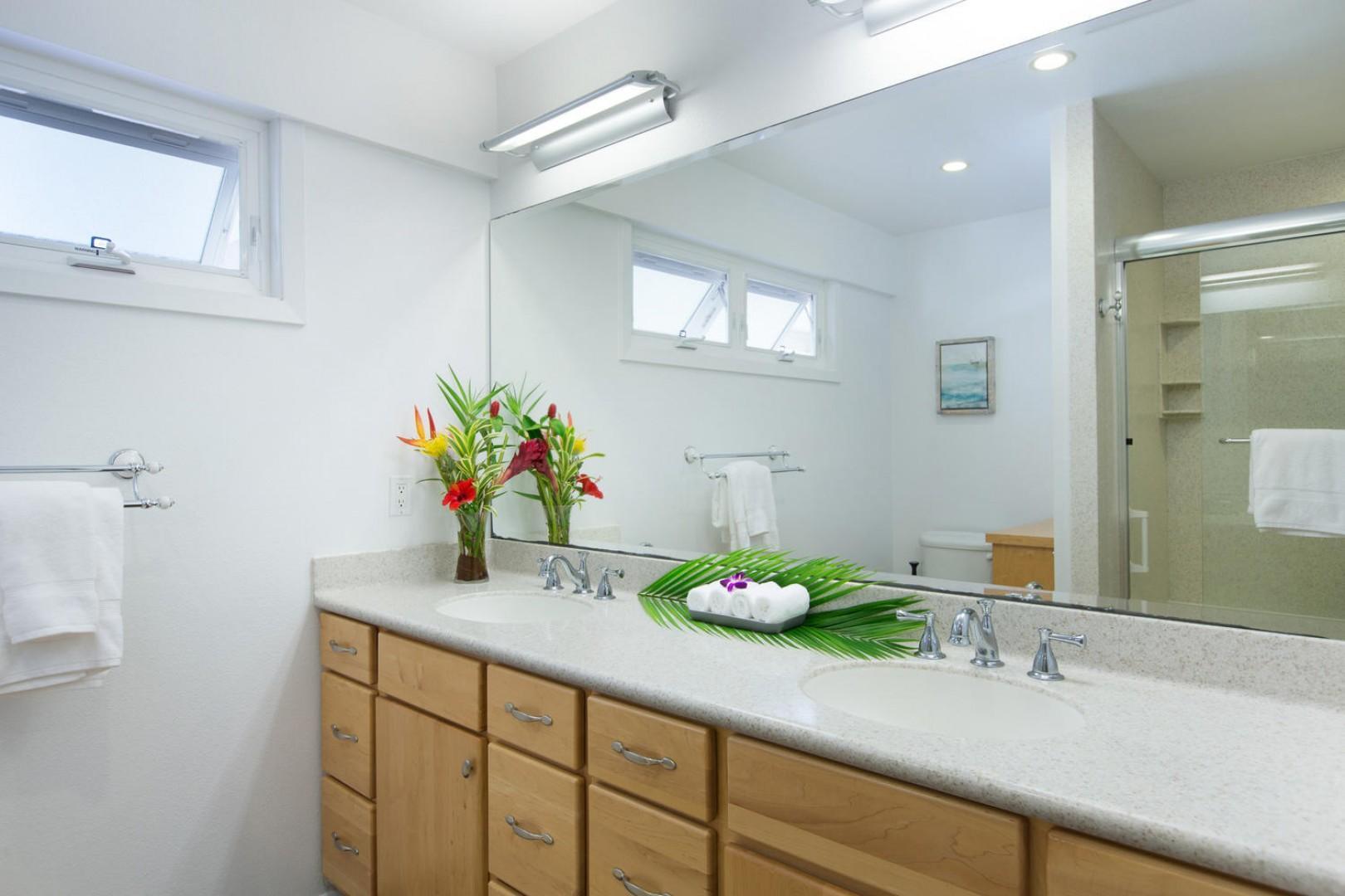 Downstairs master bathroom.