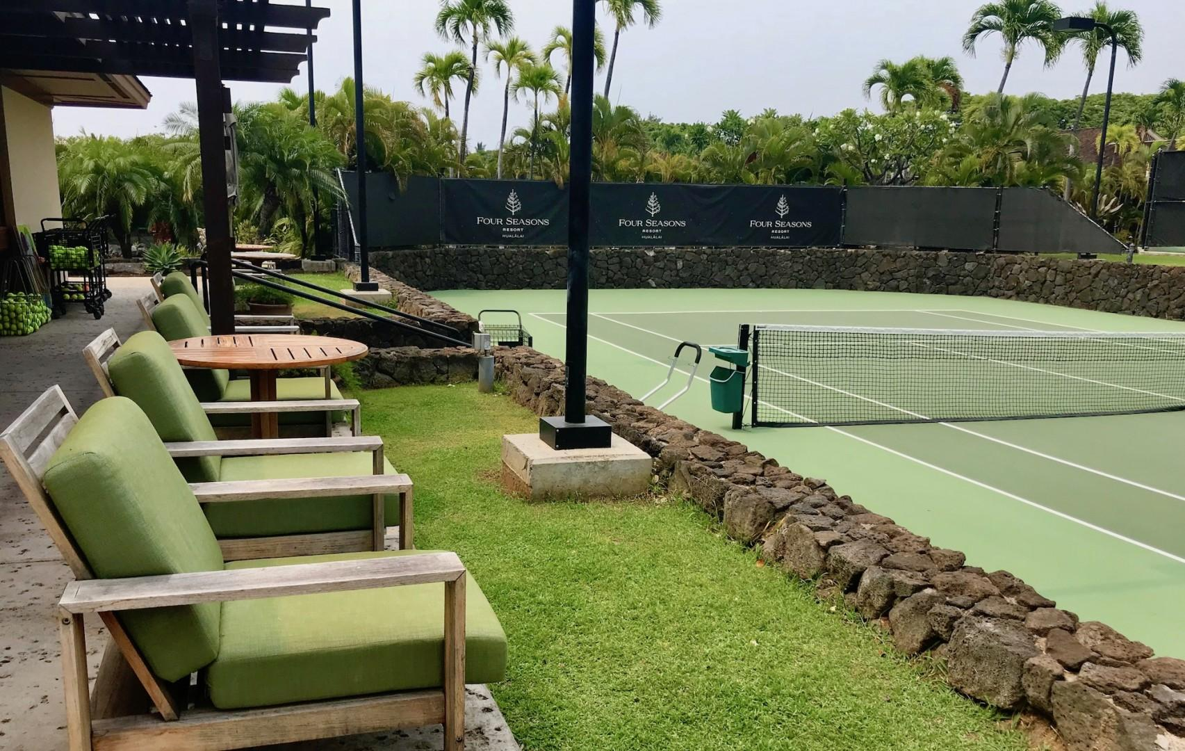 Four Seasons Resort tennis courts.