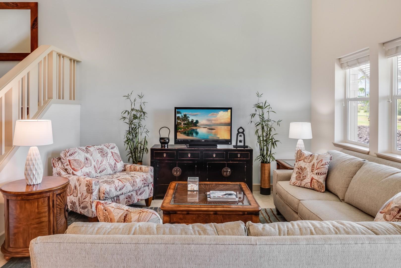 Large sofa w/ recliner capabilities