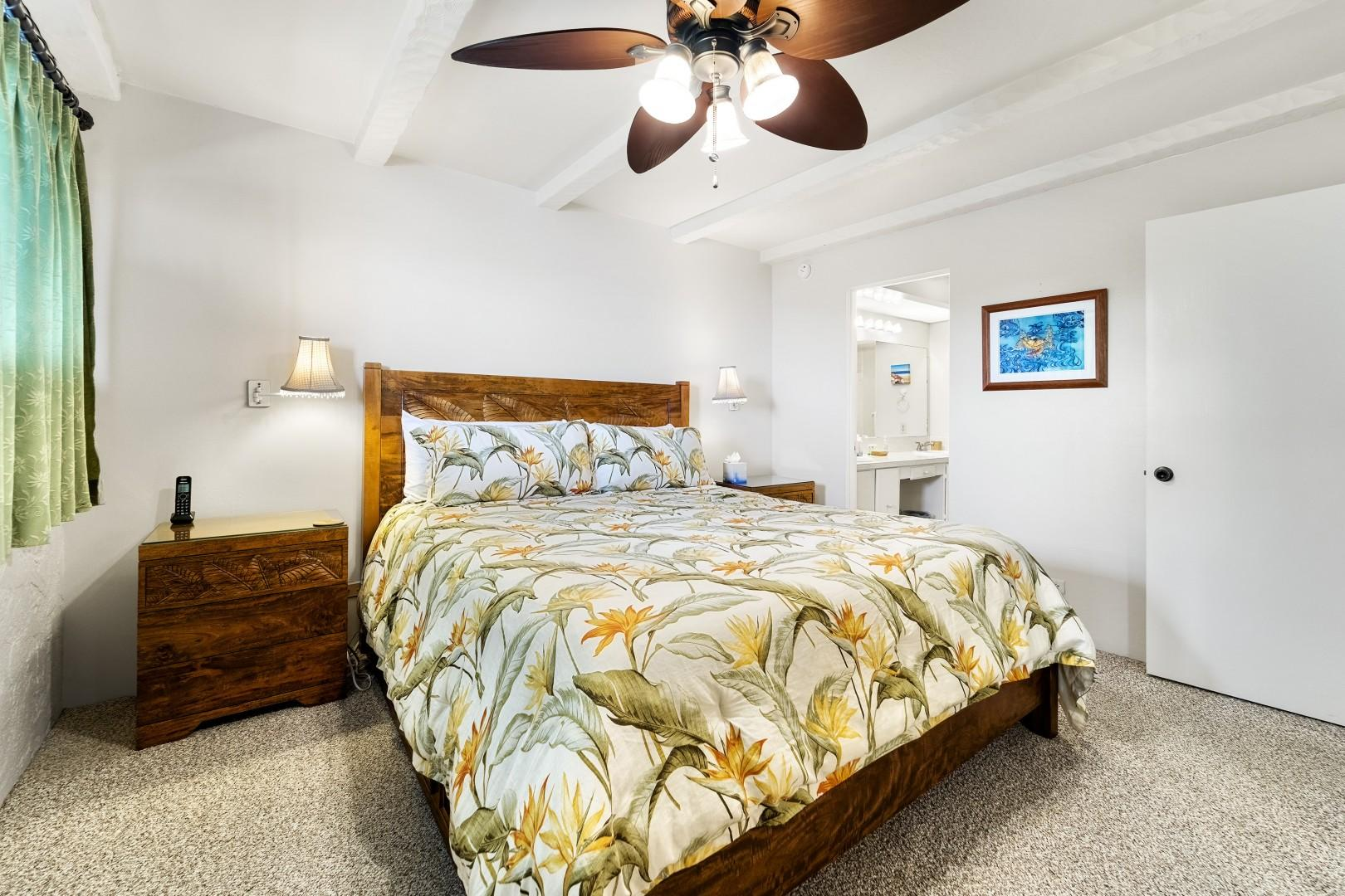 Central A/C, upgraded furnishings and attached ensuite in the Master bedroom