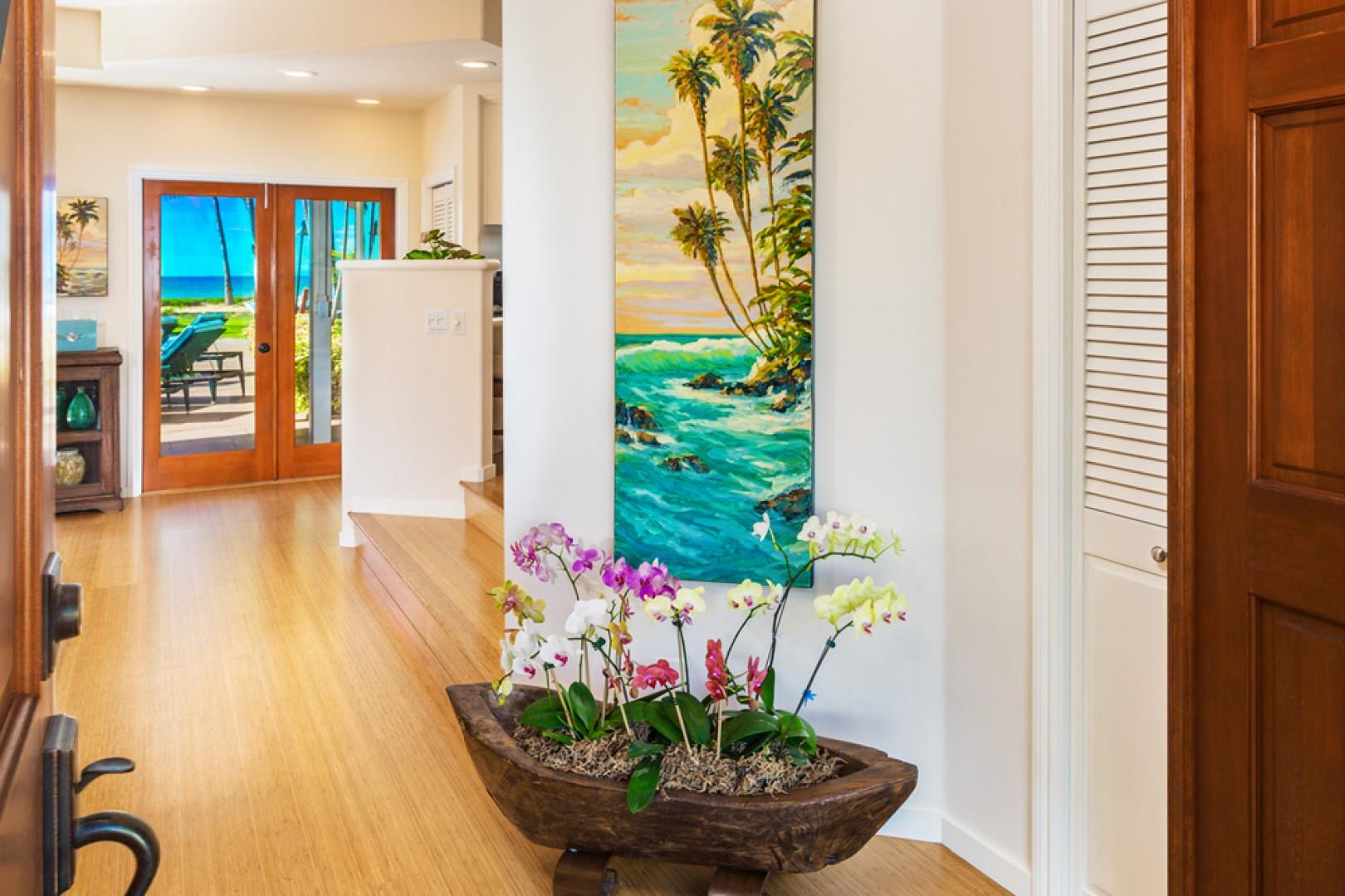 Beautiful Original Art and Orchid Garden Welcome You To Mango Surf