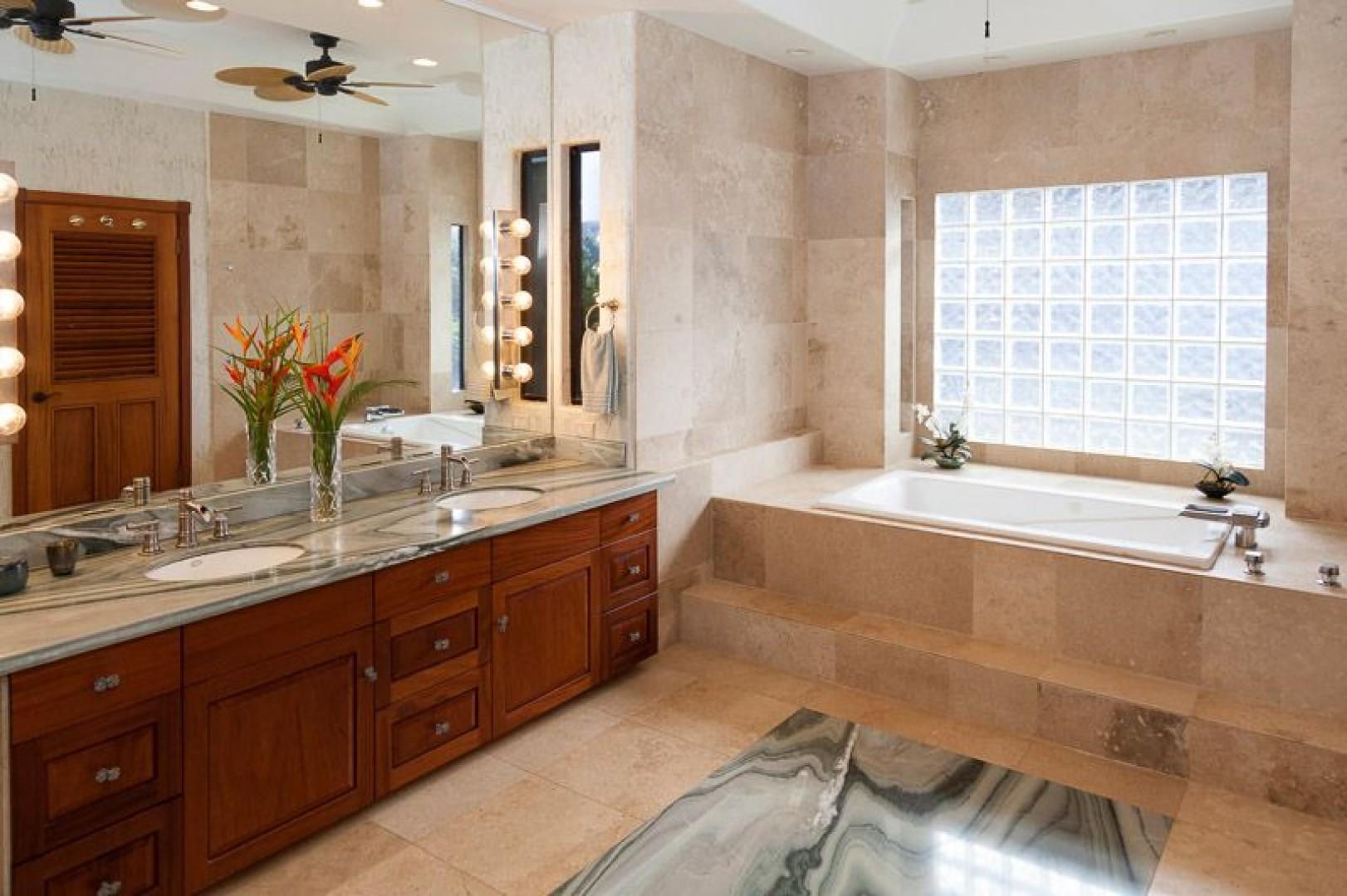 South Master Bath enjoy soaking in the large tub