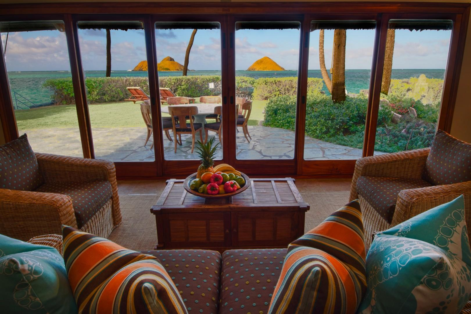 Ocean view from Kitchen House