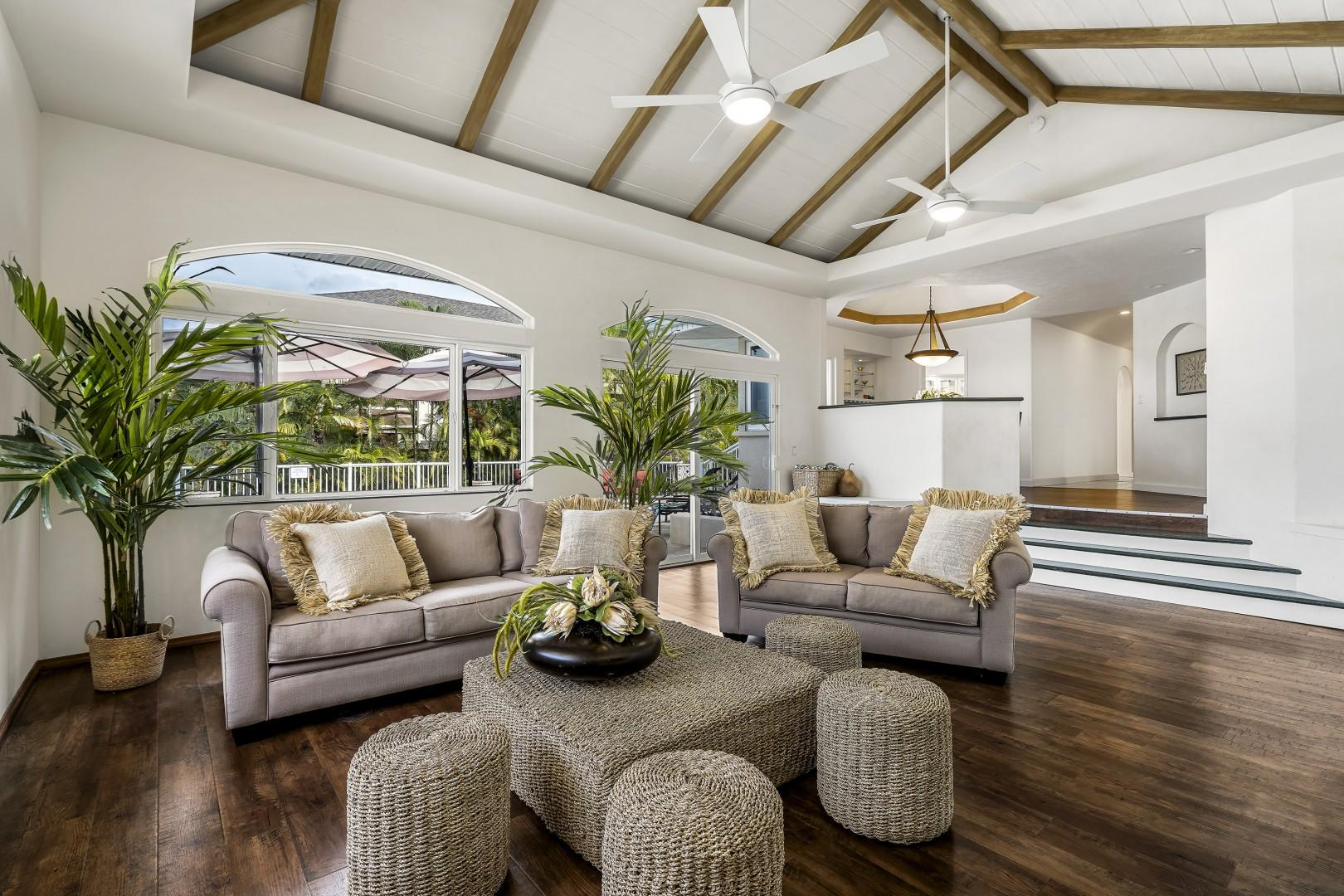 Open beam ceiling and open sightlines make this a perfect home away from home!
