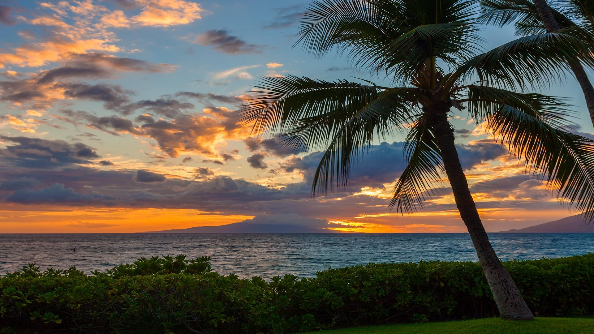 Watch spectacular sunsets over the West Maui Mountains and the island of Lana'i.