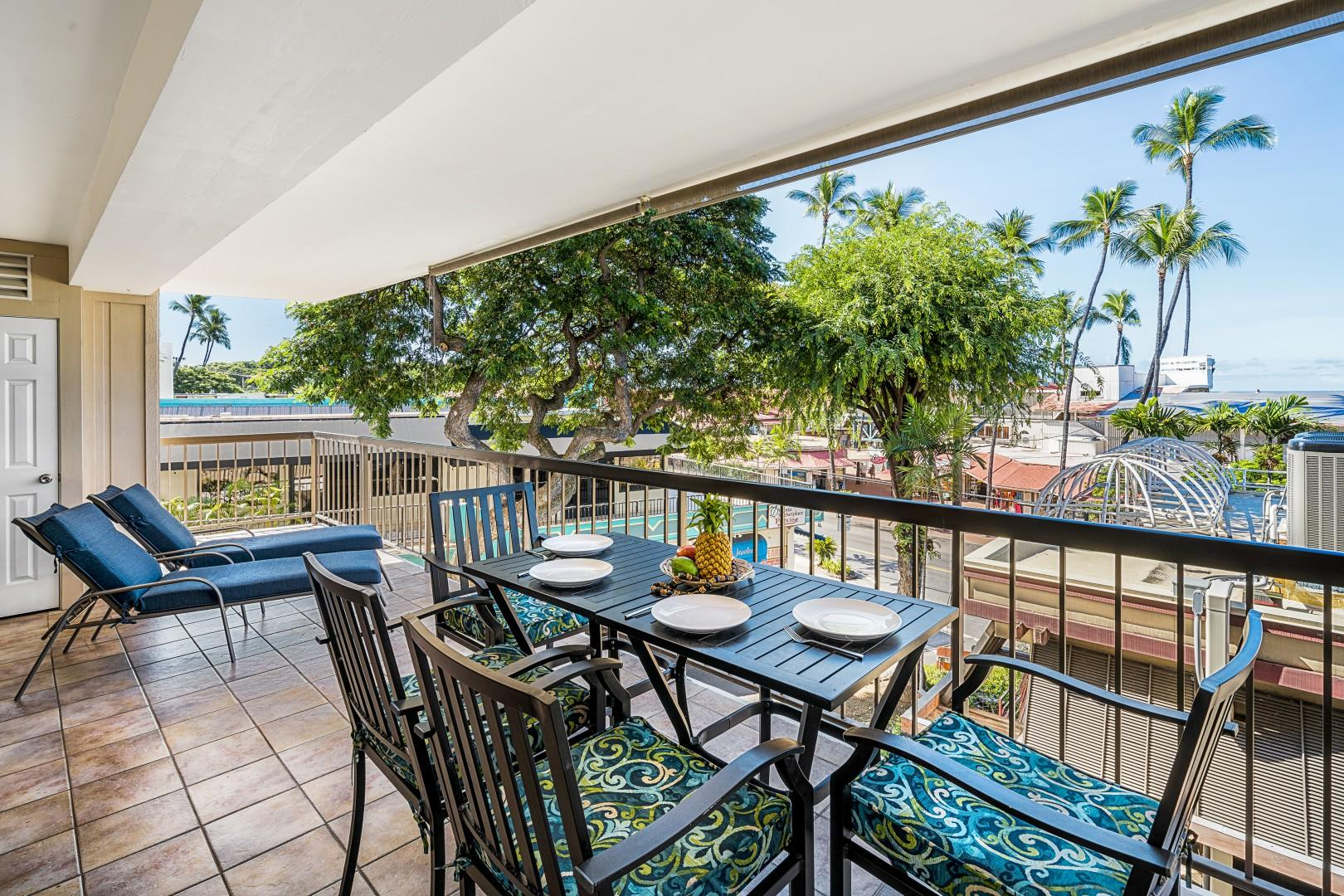 Spacious wrap-a-round Lanai with room for all!