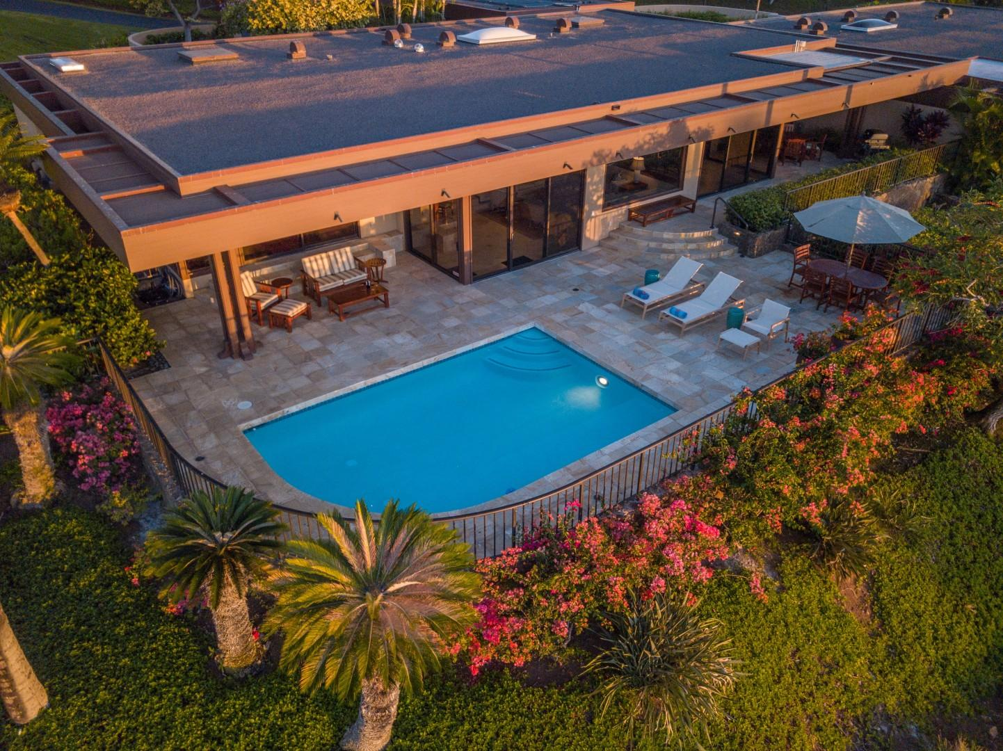 Aerial View of Villa 21 & Private Pool.